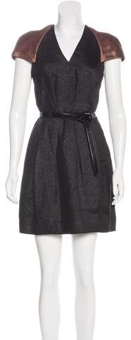 3.1 Phillip Lim 3.1 Phillip Lim Belted Lurex Dress