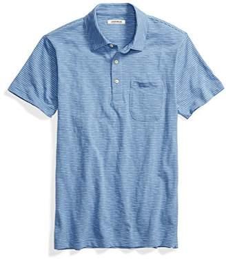Goodthreads Men's Short-Sleeve Striped Slub Polo