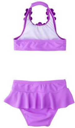 Circo Infant Toddler Girls' Halter Floral 2-Piece Swimsuit
