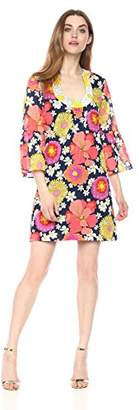 Trina Turk Women's Bonita Bell Sleeve Dress