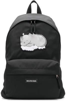 Balenciaga rhino print Explorer backpack