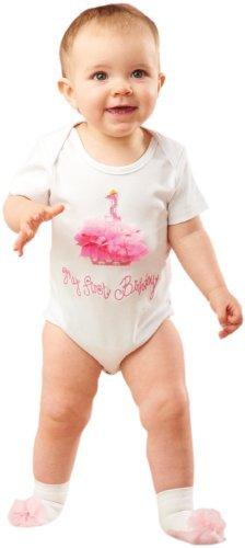 Mud Pie Baby-girls Newborn First Birthday Crawler Set