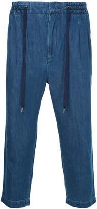 Monkey Time Cropped Drop Crotch Jeans