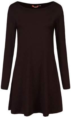 MiYang Casual Long Sleeve Shirt Pockets Dress Fall Clothes for Women