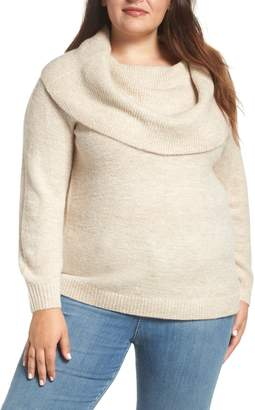 Caslon Metallic Convertible Neck Sweater