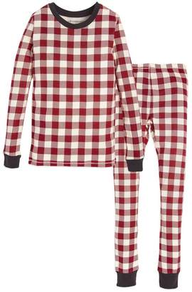 Burt's Bees Buffalo Check Organic Big Kids Holiday Matching Pajamas