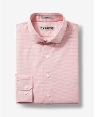 Express slim micro print jacquard dress shirt