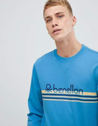 Benetton logo sweatshirt with vintage print