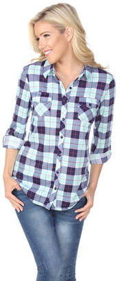 Oakley WHITE MARK White Mark Plaid Button-Front Shirt