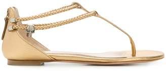 Alexander McQueen open toe flat sandals