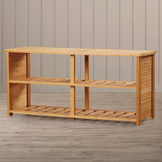 Beachcrest Home 10-Pair Bamboo Shoe Storage Bench