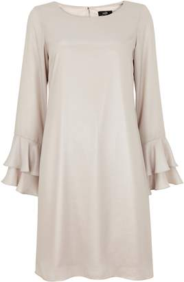 Wallis Silver Flute Sleeve Shift Dress