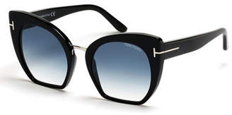 Tom Ford Samantha Cropped Cat-Eye Sunglasses