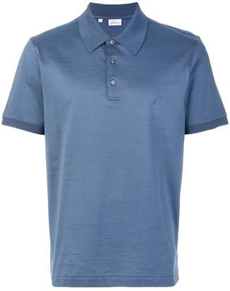 Brioni logo embroidered polo shirt