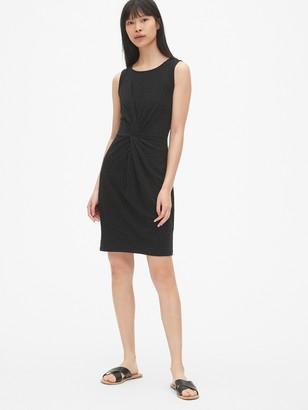 Gap Twist-Front Dress in Slub Jersey