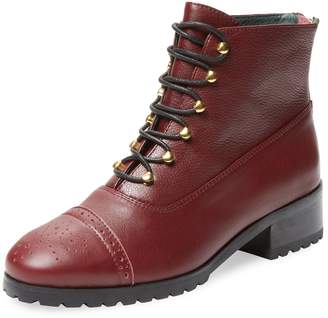 F-Troupe Women's Sylvia Leather Lace-Up Boot