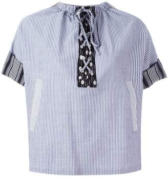 J.W.Anderson striped laced top