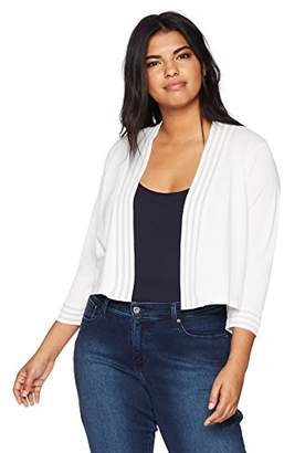 Calvin Klein Women's Plus Size Shrug with Sheer Trim