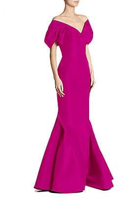 d145fdf72f6 Zac Posen Purple V Neck Dresses - ShopStyle