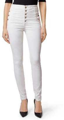 J Brand Natasha Sky High Coated Super Skinny Jeans