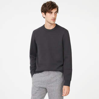 Club Monaco Double-Knit Seamed Crew