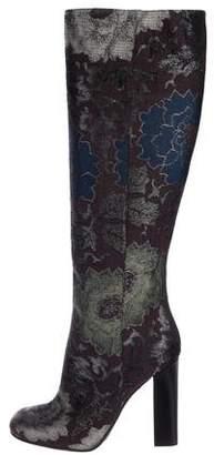 Etro Jacquard Knee-High Boots