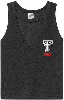 PINK Texas Tech University Choker Neck Muscle Tank