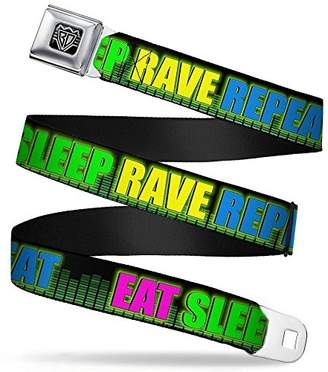 BUCKLE-DOWN INC. Unisex-Adults Buckle-Down Seatbelt Belt Rave Quote XL