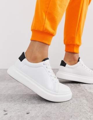bf60aa82cd4b Asos Design DESIGN Doro chunky lace up trainers in white