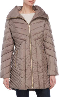 Anne Klein Removable Hood Long Coat