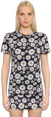 Au Jour Le Jour Daisy Printed Cotton Jersey T-Shirt