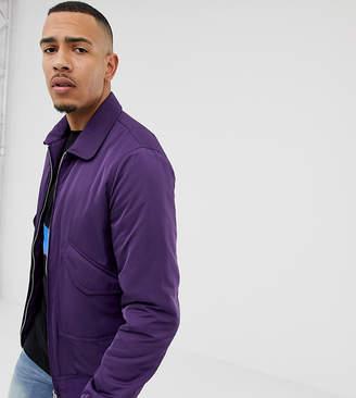 Asos DESIGN Tall bomber jacket in purple