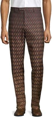 Valentino Men's Geometric-Print Chino Pants