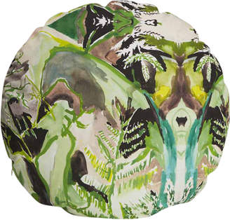 Fort Makers Fern Print Circle Pillow