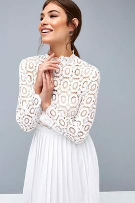 Little Mistress White Midi Dress