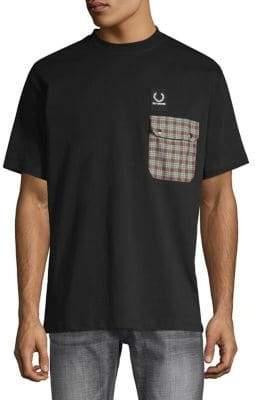 Raf Simons Fred Perry x Plaid Pocket Detail T-Shirt