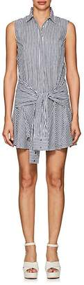 Derek Lam 10 Crosby WOMEN'S SLEEVE-DETAILED STRIPED COTTON DRESS