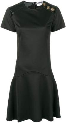 Versus button detail dress