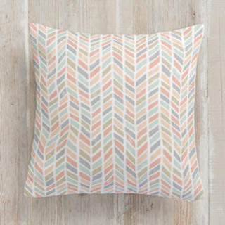 Tiled Chevrons Square Pillow