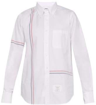 Thom Browne Striped Band Cotton Shirt - Mens - White