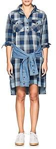 Current/Elliott WOMEN'S THE TWIST COTTON CHAMBRAY SHIRTDRESS