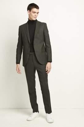 Olive Flannel Suit Jacket