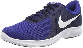 Nike Men's Revolution 4 (EU) Running Shoes, (Midnight Navy/White/Deep Royal 414)