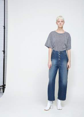 MM6 MAISON MARGIELA Button Front Boyfriend Jeans