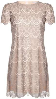 Yumi Lace Detail Short Sleeve Dress