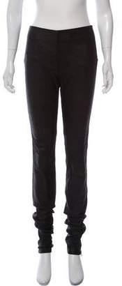 Maison Margiela Leather High-Rise Skinny Pants