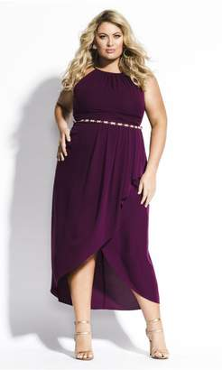 City Chic Citychic Lovestruck Maxi Dress - mulberry