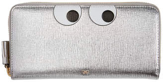 Anya Hindmarch Silver Large Eyes Zip Around Wallet