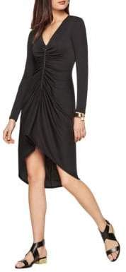 BCBGMAXAZRIA Debby Zip-Front Jersey Dress