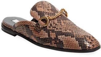 Stella McCartney Snake Print Loafer Mule